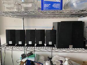 5 little speakers 1 bigger speaker for Sale in Palm Bay, FL