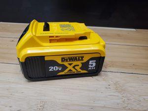 Dewalt 20V 5.0Ah Battery for Sale in Framingham, MA