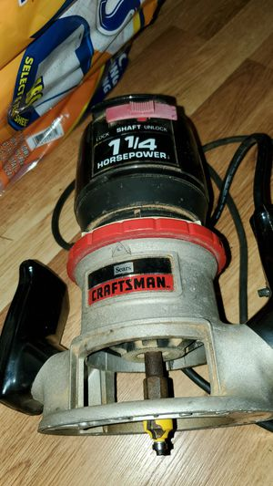 Craftsman 1.25 horsepower router for Sale in Louisa, VA