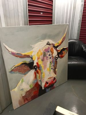 Large Cow Painting. Colorful, from Kirkland's. for Sale in Nashville, TN