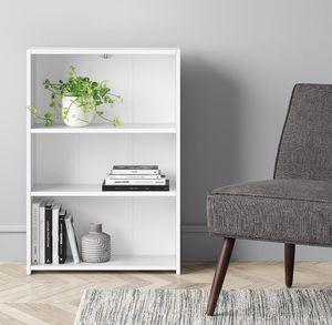 Bookcase 3 shelves white new for Sale in Beltsville, MD