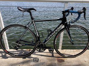 Cannodale super six carbon fiber road bike, medium size,54 cm, without saddle for Sale in Pompano Beach, FL