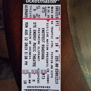 Concert tickets for Sale in Toledo, OH