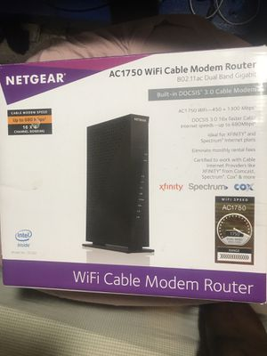 BRAND NEW NETGEAR C6300 WIFI CABLE MODEM ROUTER COMBO for Sale in Lake Worth, FL
