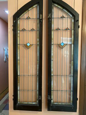 Antique Lead Glass Church Windows for Sale in Palatine, IL