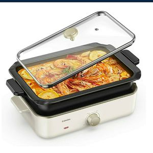 Electric Foldaway Skillet Grill Combo, Precise Temperature Control and Tempered Glass NEW ½ PRICE for Sale in Virginia Beach, VA