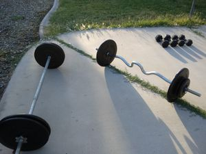 Weights standard size- Barbell and Dumbbells for Sale in Glendale, AZ