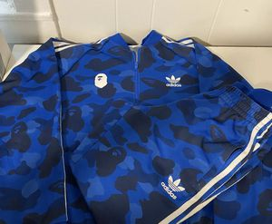 Bape Adidas Tracksuit (top & bottom) 100% Authentic for Sale in Brooklyn, NY