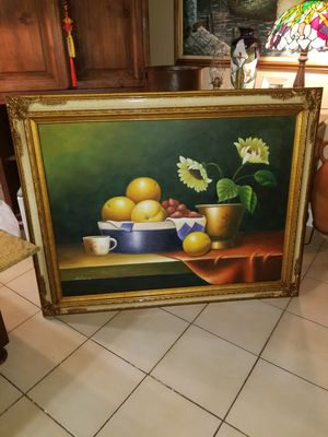 Gorgeous framed oleo paint for Sale in Miami, FL