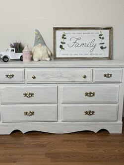 Newly Refinished Lowboy Dresser Farmhouse Style for Sale in Graham,  WA