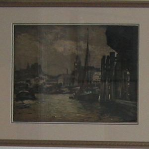 Beautifully Framed Lithograph With Red Boat for Sale in Huntington Beach, CA