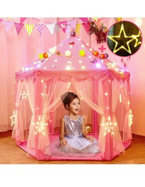 Princess Tent for Girls with Large Star Lights, Kids Play Tent Large Space Playhouse for Children Indoor Games, Toy & Gift for Kids Girls & Boys Age for Sale in Chula Vista, CA