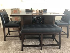 Lightly used Julian Place Chocolate dining room for Sale in HALNDLE BCH, FL