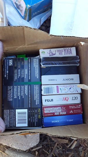 VHS tapes. Free at 6657 Orr St 92111(off Ulric street in Linda Vista) for Sale in San Diego, CA