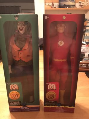The joker and the flash 14 inches long action figures for Sale in Eugene, OR