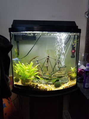 16 Gallon Bowfront aquarium for Sale in Wenatchee, WA