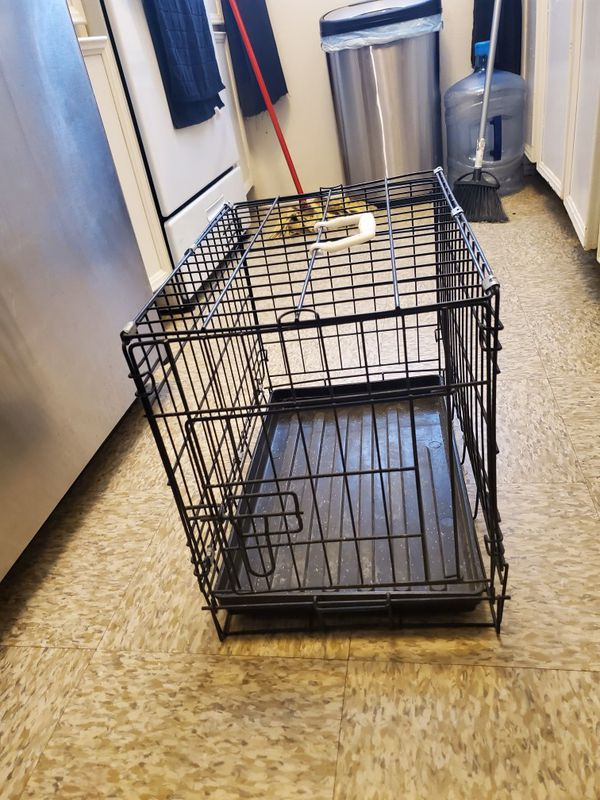 Small dog or cat crate.