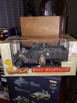 Ultimate Soldier 1/18 scale M3A3 Half-Track w/ driver figure for Sale in Tarpon Springs, FL