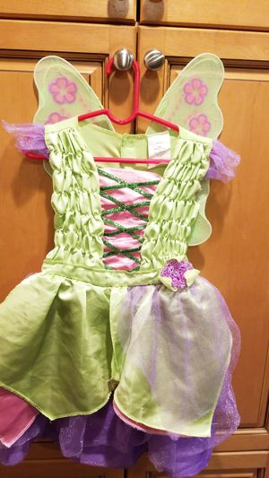 Disney's Tinkerbell, Halloween costume with wings, Little girls size, 4T - 5T for Sale in Riverside, CA