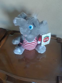 1993 Coca-Cola,, Plush Elephant From The Plush Collection,,,, Only $ 25.00 Dollars for Sale in Long Beach,  CA