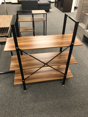 Computer desk, 3 tier bookshelf and storage shelf new (for small spaces) for Sale in Walnut, CA