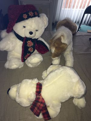 $20 take all like new 4 Plush stuffed animals Horse teddy bear for Sale in Rochester Hills, MI