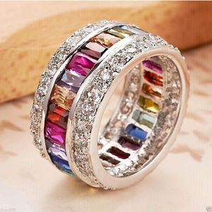 *NEW ARRIVAL* Multicolour Rainbow Eternity Ring Sizes 5 - 10 *See My Other 500 Items* for Sale in Palm Beach Gardens, FL