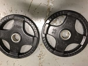 255 lb rubber coated olympic weight set - new for Sale in Brookfield, IL