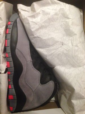 Air Jordan charcoal 10's size 12 for Sale in New York, NY