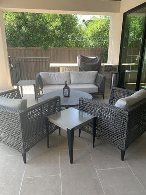 Genval Cushioned Patio Furniture (Full Set) Original MSRP - over $6K!! for Sale in Dallas, TX