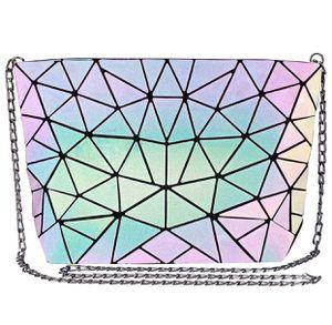 Geometric Luminous Crossbody Bag for women Holographic Reflective Handbags Shoulder Clutch Bag for Sale in Grand Prairie, TX