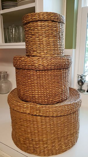 3 Woven Storage Containers for Sale in Austin, TX