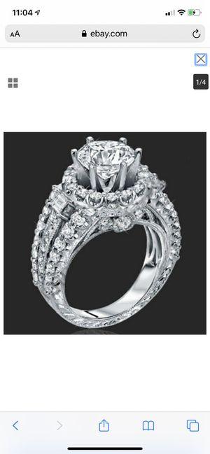 925 sapphire diamond wedding ring for Sale in Oswego, IL