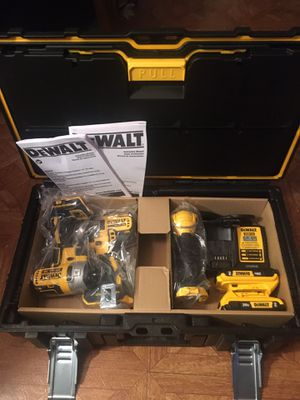 DeWalt. 20V MAX XR Lithium Ion 3-Piece Brushless Cordless Combo Kit with Tough System Case. for Sale in Brooklyn, NY