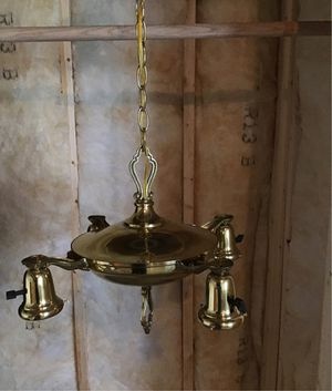 Brass Antique light fixture for Sale in Byron Center, MI