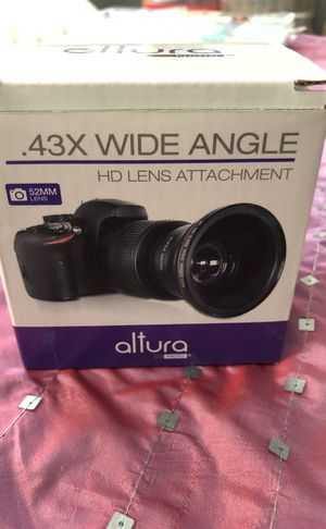 Wide Angle HD LENS Attachment 52MM LENS for Sale in Orlando, FL