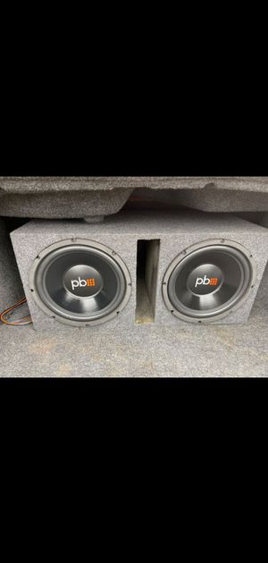 Pb speakers 12s come wit amp 1500 watts,wires and bass knob for Sale in Hutchins, TX