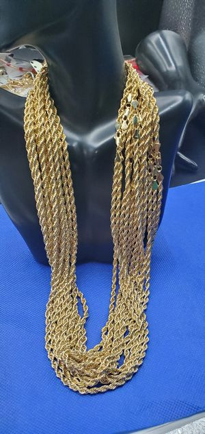 Rope chain GOLD plated Brazilian 24inches for Sale in Bakersfield, CA