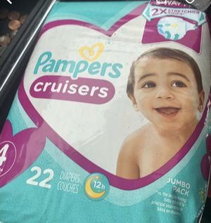 Pampers cruisers size 4 for Sale in Commerce City, CO