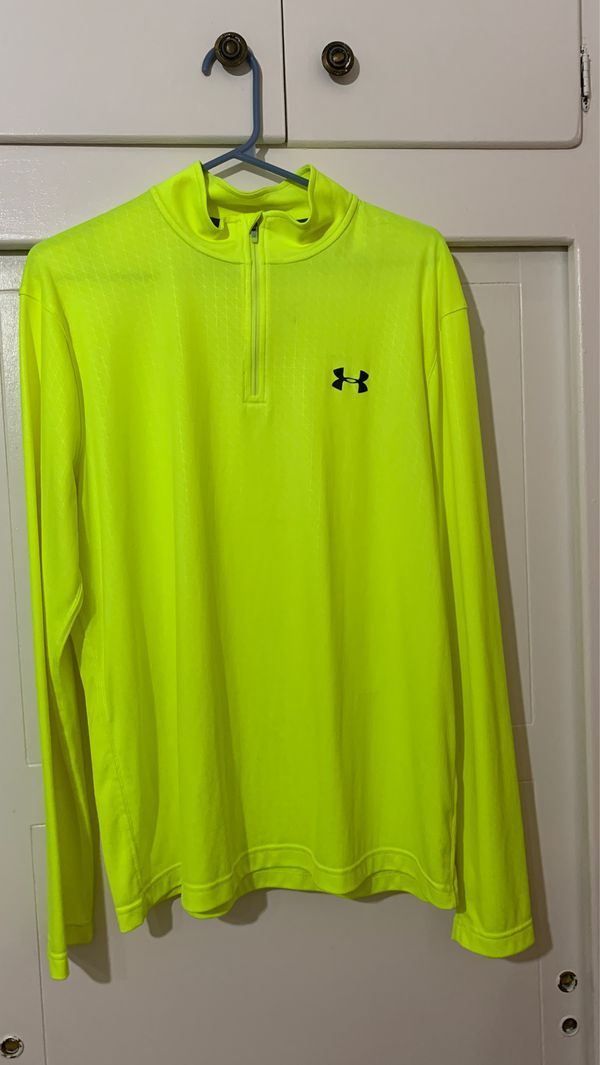 Under Armour Quarter Zip Up Long Sleeve Large