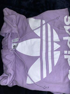 Adidas Original Lavender Hoodie with trefoil logo for Sale in Baldwin Hills, CA