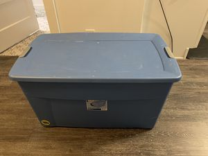 Free large blue tub with wheels for Sale in Denver, CO