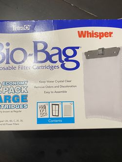 Eight Whisper Aquarium BioBag Larger Filter Cartridges! for Sale in Mason,  OH