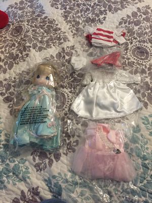Precious moments doll brand new with 3 extra outfits for Sale in Garden Grove, CA