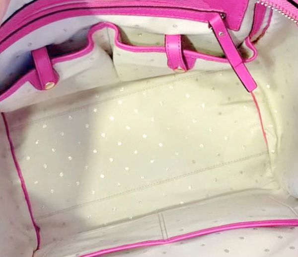 Kate Spade New York Pink Handbag + Free Cosmetic Bag/Coin Purse