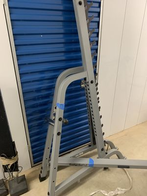 Body Solid Multipress Squat Press Bench, Bar, & Weights(300+lbs total) Mint Condition for Sale in Gaithersburg, MD
