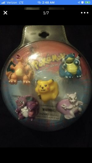 POKEMON RINGS CUPCAKE TOPERS 5 SEALED for Sale in Las Vegas, NV