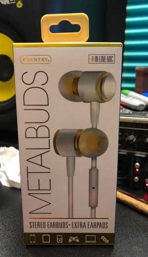 Sentry metal earbuds with mic for Sale in Waterbury, CT