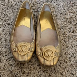 Michael Kors Gold Flats for Sale in Raleigh, NC