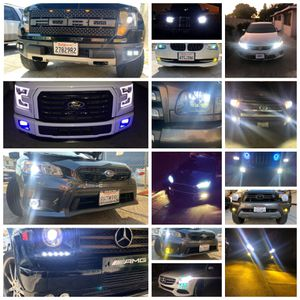 H11 H4 H7 9006 9007 9005 car led headlights or fog lights $25 for Sale in East Los Angeles, CA